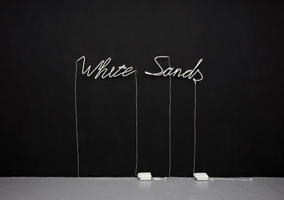 Sylvain Rousseau White Sands, 2008. Poudre de fritage, 185 x 270. Courtesy galerie LHK.