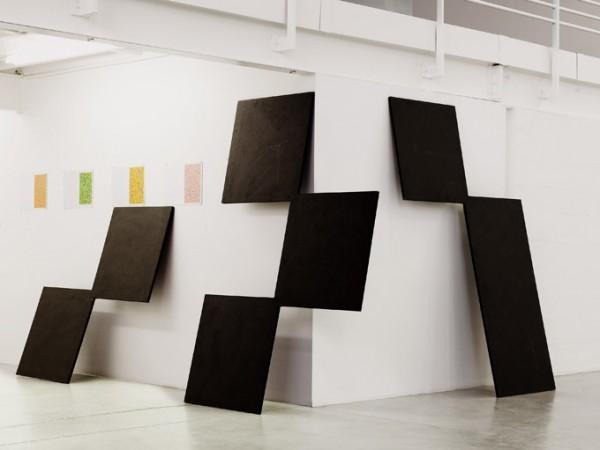 Clément Rodzielski, Sans titre, 2008. Dessins trouvés, MDF. Courtesy de l'artiste et Cardenas Bellanger, Paris. Photo Rémy Lidereau © ANNE+