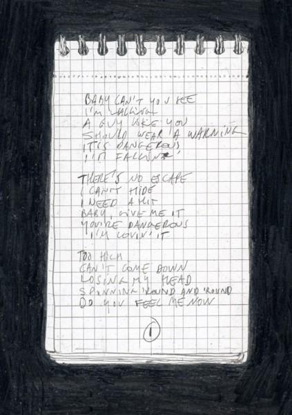 David Evrard, toxic, crayon sur papier, 2007