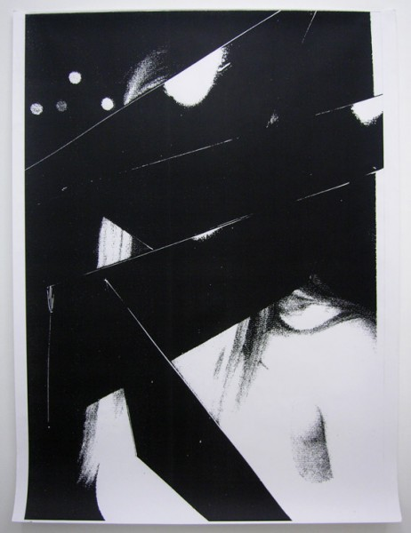 Miroirs Noirs (Deborah Kara Hunger), 2008 Photocopie n&b unique 85 x 120 cm Courtesy Cardenas Bellanger, Paris