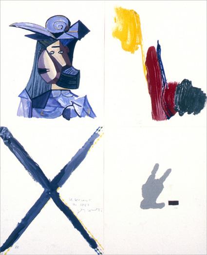 Gérard Gasiorowski, Les Amalgames, Amalgame n°22, 1975-1980, acrylique on paper, 74 x 61 cm