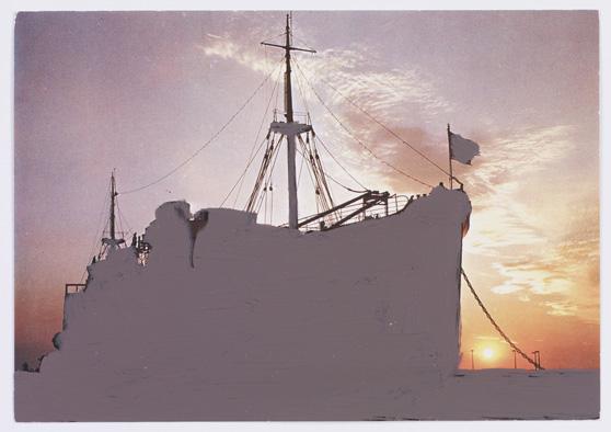 Gérard Gasiorowski, La peinture à..., n.d. (ca. 1979-1984), painting postcard, 10 x 15 cm