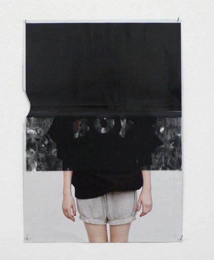 Clotilde Lataille, Monolithe 05, 2010. Photocopie sur magazine. 21 x 29,7 cm. Courtesy de l'artiste. Photo Stéphane Kropf.