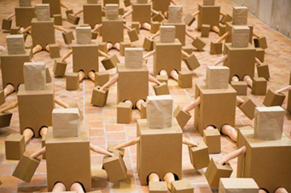 Olaf Breuning, Can someone tell us..., 2010, vue de l'exposition à la Chapelle du Genêteil