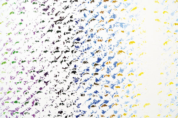 Cheyney Thompson Chronochrome set 4, 2010. Huile sur toile, 190.5 x 253 cm. Oil on canvas, 75 x 99 ½ inches. Detail. Courtesy Sutton Lane, London / Paris. Photo Isabelle Arthuis.