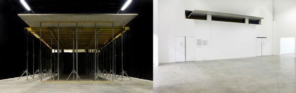 Vues d'exposition, Karsten Födinger, « Cantilever », Palais de Tokyo,  18 02 - 27 03 2011 Courtesy de l'artiste, RaebervonStenglin, Zurich et Palais de Tokyo, Paris