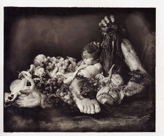 Joel Peter Witkin, Feast of fools, tirage noir et blanc, 1990, collection Ade Galbert