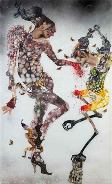 Wangechi Mutu, the-partician-new, 2004, technique mixte sur mylar, courtesy galerie zidoun
