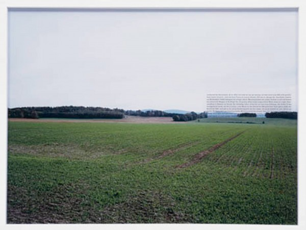 Ostdeutsche Landschaften, 2005 5 c-print, screenprint on glass, framed Each 60 x 80 cm Courtesy of the artist and Klemm's Berlin