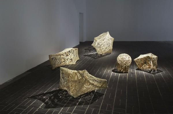 Albrecht Schäfer, Sitzgruppe / Suite, 2008, rattan, size variable, installation view KW Institute for Contemporary Art, Berlin