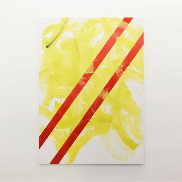 Zwischen den Zeilen, 2010 lacque, acrylique sur toile 245 x 175 cm