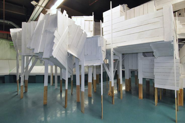 Stratum, installation au centre d'art du Parvis, Tarbes