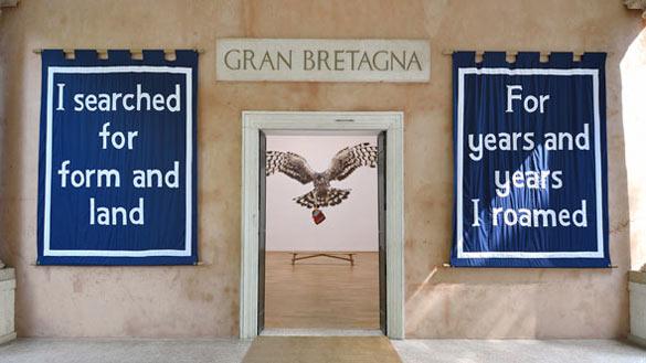 DELLER / Royaume-Uni. Entrance to Jeremy Deller's English Magic exhibition at the Venice Biennale 2013. Photo: Cristiano Corte