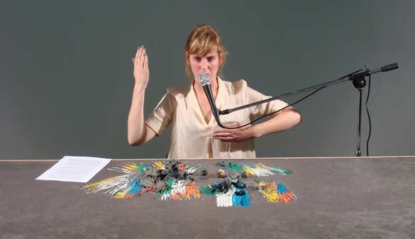 Hedwig Houben, Five Possible Lectures on Six Possibilities for a Sculpture, 2012, image still - Courtesy of the artist, La Loge, Bruxelles & Galerie Fons Welters, Amsterdam