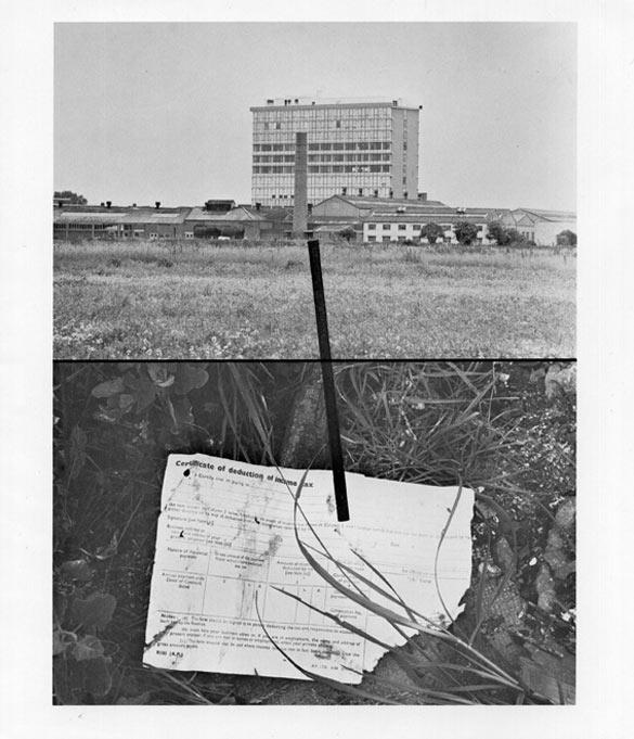 Stephen Willats, The Lurky Place, 1978, 25.5 x 20.5 cm. Courtesy de l'artiste et de la Victoria Miro Gallery, Londres / courtesy: the artist and Victoria Miro Gallery © Centre photographique d'Île-de-France.