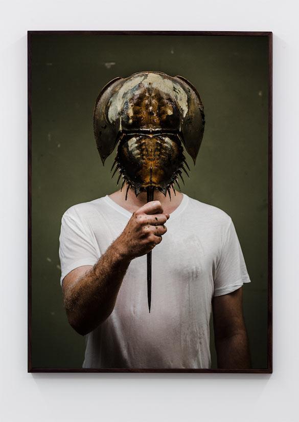 Christian Andersson - A Splitting Headache, Self Portait / Living Fossil, 2013.