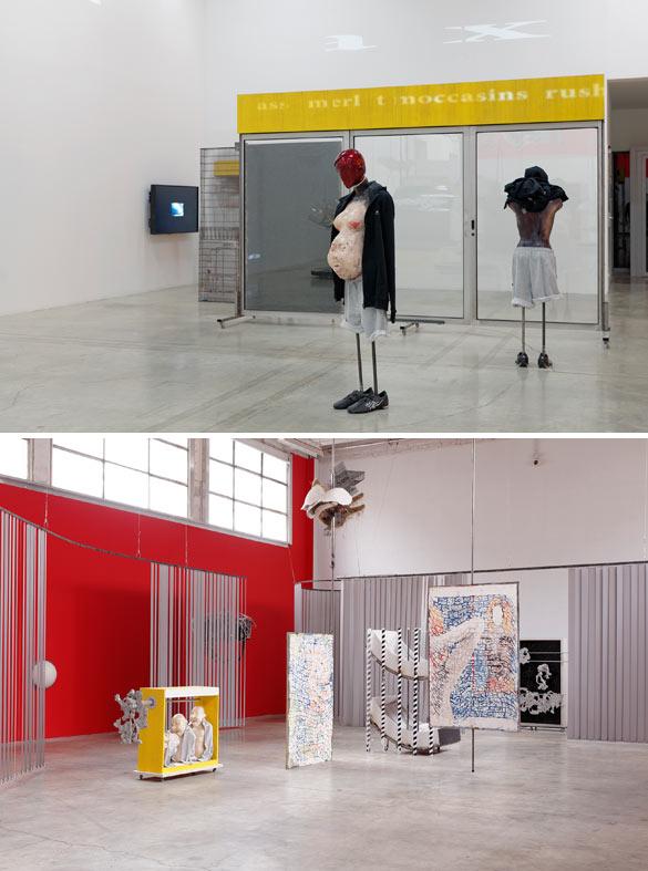 """Vue de l'exposition monographique de David Douard """"Mo'Swallow"""", dans le cadre de la saison L'Etat du ciel (14.02.14 - 12.05.14), Palais de Tokyo, Paris.Courtesy Galerie High Art.Photo : Aurélien Mole."""