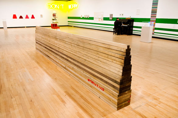 Work No. 396, 2005, Martin Creed, What's the point of it, Hayward Gallery, 2014 Installation view © photo Linda Nylind