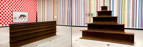 Work No. 1585 / Work No. 1588, 2013, Martin Creed, What's the point of it, Hayward Gallery, 2014 Installation view © photo Linda Nylind