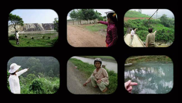 Nguyễn Trinh Thi : Landscape series #1 (capture d'écran), 2013, Vidéo, DVD 5 min, couleur/son, cartes postales. Courtesy of the artist.