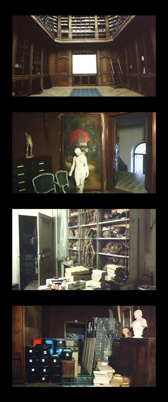 Vue de l'exposition Natascha Sadr Haghighian. Ressemblance, programmation Satellite 7 Jeu de Paume hors les murs, à la Maison d'Art Bernard Anthonioz (MABA), Nogent-sur-Marne © Photographie Romain Darnaud, Jeu de Paume.