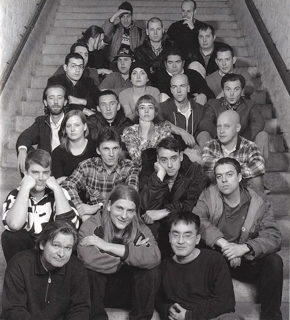 Carsten Höller, Photo de Groupe, 1996. Photographie noir et blanc / Black & white photograph, 188 x 129 x 2,2 cm. Courtesy Carsten Höller ; Air de Paris, Paris. © Adagp, Paris 2014.
