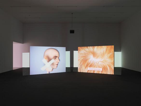 Vue de l'exposition / Installation view «Ed Atkins», Kunsthalle Zürich, 2014 © Stefan Altenburger Photography Zurich