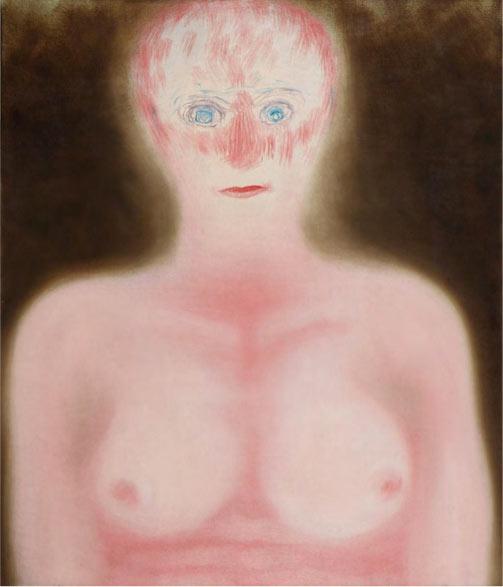 Klang: Miriam Cahn, Klang, 1975, Huile sur toile, 105 x 90 cm, courtesy galerie Wolff, Paris.