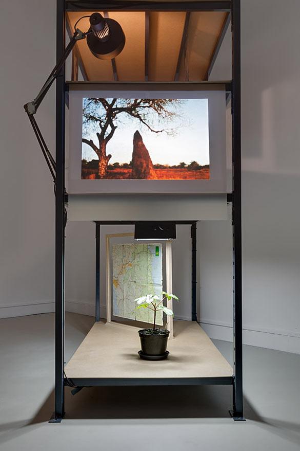 "Vue de l'exposition / exhibition view ""Kapwani Kiwanga.Maji Maji"", Satellite Programme 7, Jeu de Paume. 03/06 – 21/09/2014. Photo Romain Darnaud-Jeu de Paume."