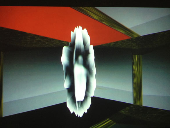 Sara Ludy. Extrait de / Still from Spheres 1-20, 2013. Projection numérique, disque Blu-ray / digital projection from Blu-ray disc. Dimensions variables. Courtesy Sara Ludy ; Klaus von Nichtssagend Gallery, New York