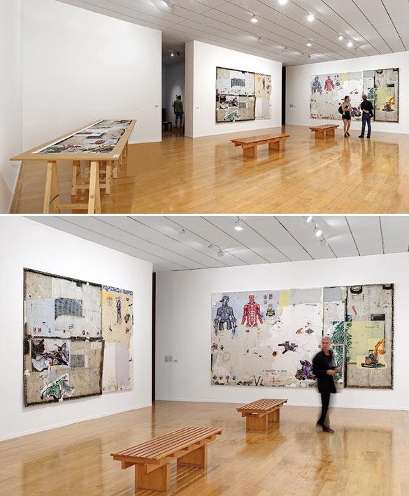 Vue de l'exposition « Imagine Brazil » au Musée d'art contemporain de Lyon. Œuvres de Paulo Nimer Pjota © photo Blaise Adilon.
