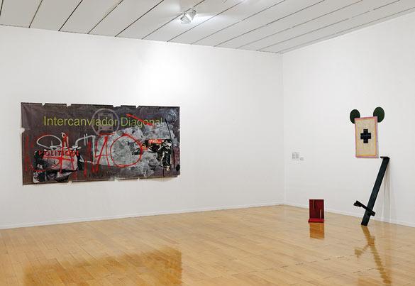 Vue de l'exposition « Imagine Brazil » au Musée d'art contemporain de Lyon. Œuvres de Gustavo Speridião et Deyson Gilbert © photo Blaise Adilon.