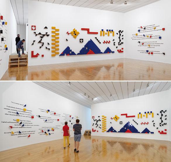 Vue de l'exposition « Imagine Brazil » au Musée d'art contemporain de Lyon. Œuvre de Jonathas De Andradev © photo Blaise Adilon.