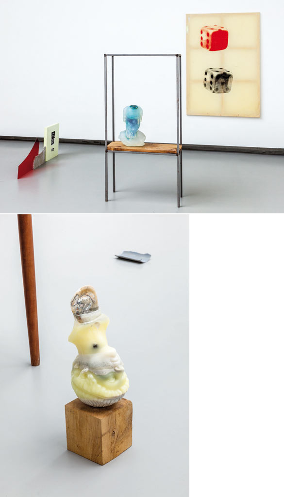 """Benoît Maire, Exposition """"Letre"""" à La Verrière, détail, 2014. © Fabien de Cugnac."""