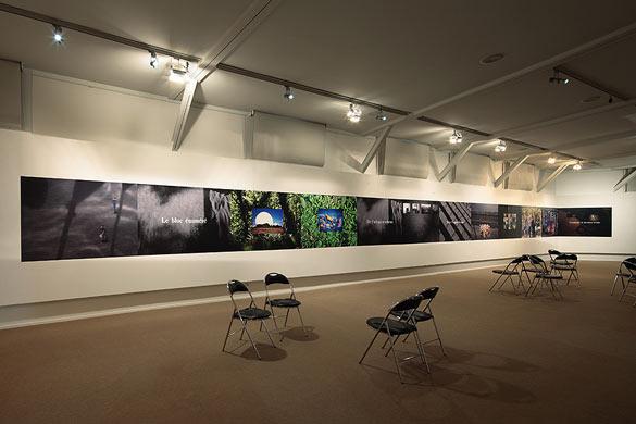 """Michel Houellebecq – Vue de l'exposition """"Before Landing"""""""