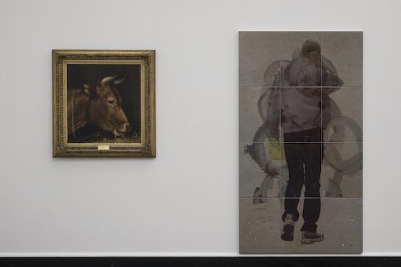 Will Benedict « Corruption Feeds », Bergen Kunsthall : Karl Uchermann, Kuhode, 1876; Tom Humphreys Untitled, 2014. Courtesy the artist; High Art, Paris. Photo : Thor Brødreskift.