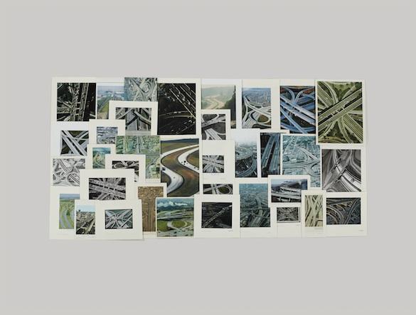 Taryn Simon, The Picture Collection, 2013. Dossier : Autoroutes Tirage jet d'encre, 119,4 × 157,5 cm avec cadre. Courtesy Taryn Simon © 2014 Taryn Simon