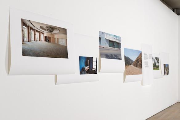 """Marcelline Delbecq, vue de l'exposition """"Silence Trompeur"""" à la Fondation d'entreprise Ricard, Paris, du 22 janvier au 7 mars 2015."""