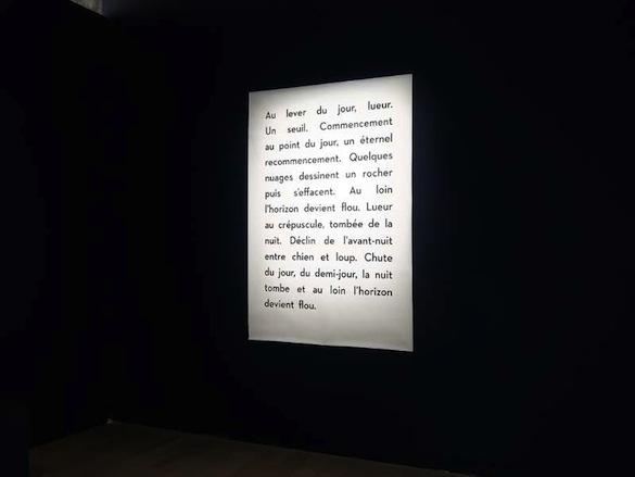 """Marcelline Delbecq, vue de l'exposition """"Silence Trompeur"""" à la Fondation d'entreprise Ricard, Paris."""