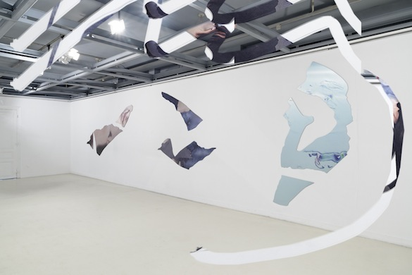 "Artie Vierkant. Vue modifiée de l'exposition ""Feature Description"" (2015), Galerie Édouard-Manet, Gennevilliers. Courtesy de l'artiste et New Galerie, Paris."