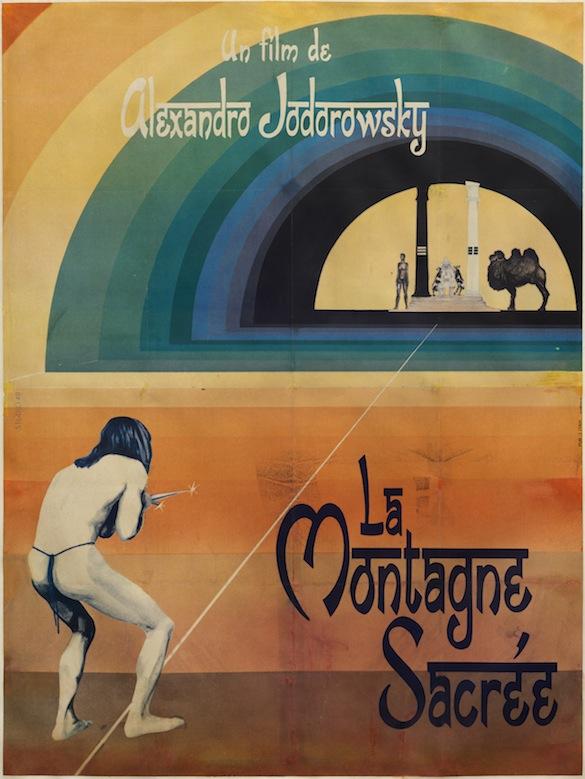 Alejandro Jodorowsky, La Montagne Sacrée, 1974. Affiche du film.