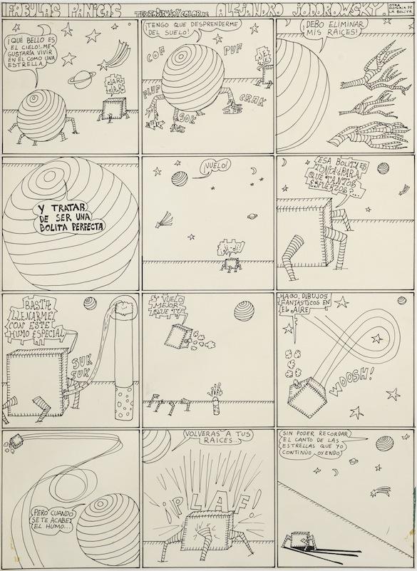 Alejandro Jodorowsky, Fabulas panicas, décembre 1967. Dessin
