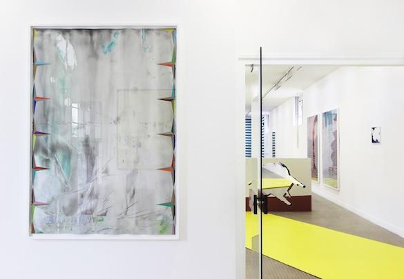 Vue de l'exposition de Jean-François Leroy et Emilie Satre. Photo: Galerie municipale Jean-Collet.