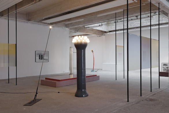 Laëtitia Badaut Haussmann « L'influence de Neptune », 2015. Vue de l'exposition à / View of the exhibition at Passerelle, centre d'art contemporain, Brest. Photo : Aurélien Mole.
