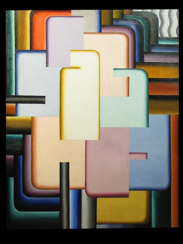 Pierre-Louis FLOUQUET, Construction n° 43 (Peinture murale - B), 1925, oil on canvas, 149.4 x 120 cm © dr