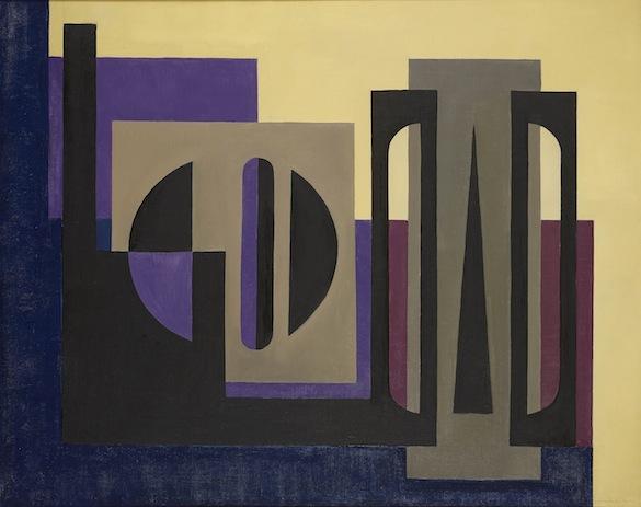 Vandenbranden_W 012 Guy VANDENBRANDEN, W 012 - Compositie, 1954, olie op doek, 80 x 100 cm, Callewaert-Vanlangendonck Collection © dr