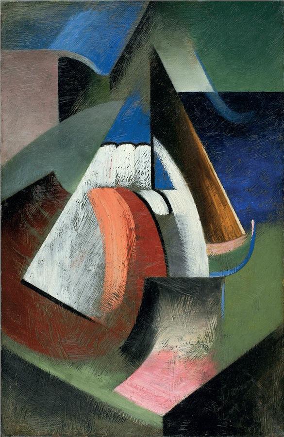 """Marthe DONAS, Nature morte """"K"""", circa 1917-1919. Huile sur toile, 33 x 21,6 cm. Collection privée, courtesy Roberto Polo Gallery, Bruxelles."""