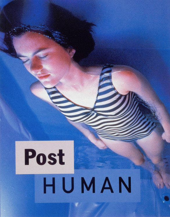 Couverture du catalogue Post Human, design graphique Dan Friedman, 1992 /Post Human catalogue cover, designed by Dan Friedman, 1992, © DESTE Foundation.