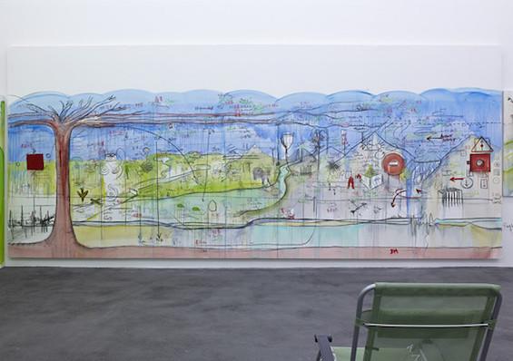 Exposition monographique 2716, 43795 m2 - Fabrice HYBER - Oeuvres exposées Salle N°2. Photographie Marc Domage - Courtesy Fabrice Hyber et Galerie Nathalie Obadia, Paris/Bruxelles