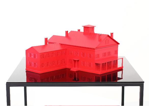 Emily Dickinson's House, 2015 La maison d'Emilie Dickinson Méthacrylate, métal 130 x 100 x 100 Courtesy de l'artiste et des galeries Messen de Clercq, OMR, Travesia Cuatro et 1301 PE